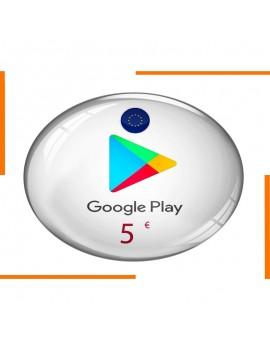 Carte Cadeau Google Play 5€