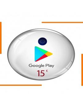 Carte Cadeau Google Play 15€