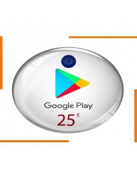 Carte Cadeau Google Play 25€