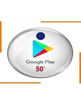 Carte Cadeau Google Play 50€