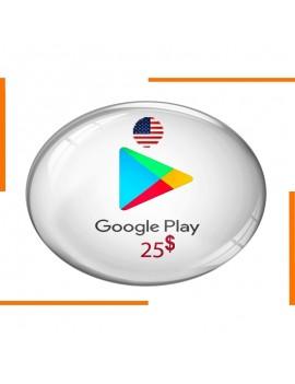 Carte Cadeau Google Play 25$