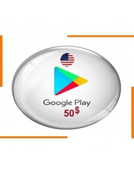 Carte Cadeau Google Play 50$