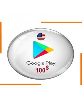 Carte Cadeau Google Play 100$