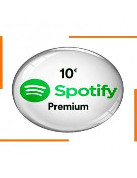 بطاقة هدية Spotify Premium 10€