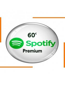 بطاقة هدية Spotify Premium 60€