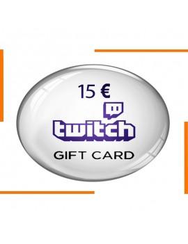 Code Cadeau Twitch 15€