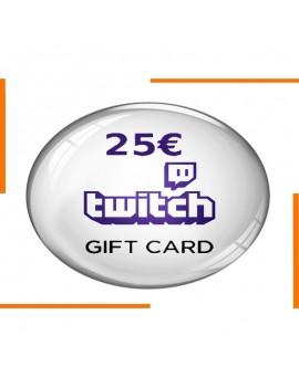 كود هدية Twitch 25€