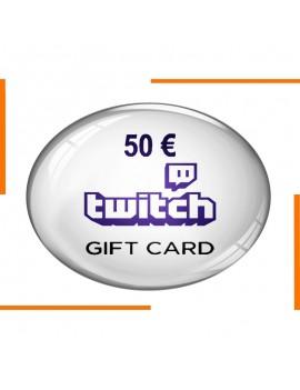 كود هدية Twitch 50€