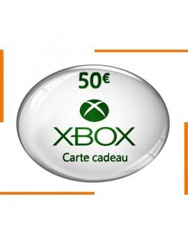 Carte Cadeau Xbox 50€