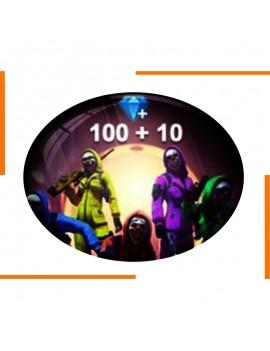 Diamants Free Fire 100+10
