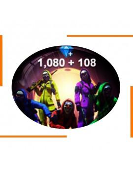 Free Fire 1080+108 جوهرة