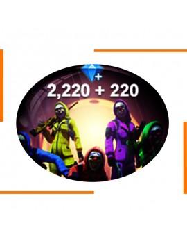 Free Fire 2220+220 Diamonds